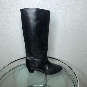 Bally Vintage Black Riding Boots